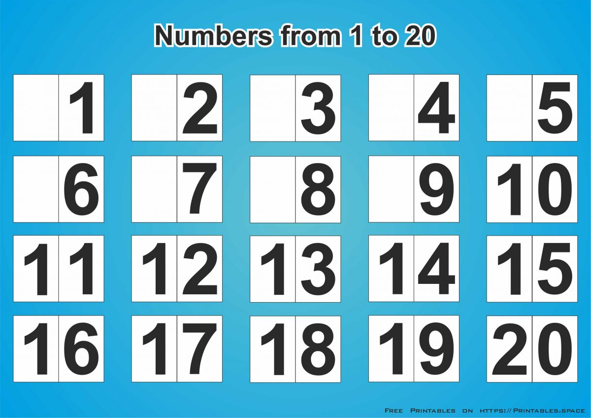 photograph regarding Free Printable Numbers 1-20 named Cost-free Obtain Printable Quantities 1-20 - Cost-free Printables