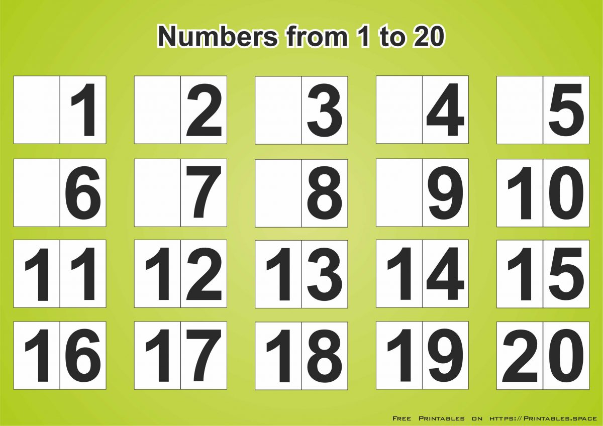 picture relating to Free Printable Numbers 1-20 named Absolutely free Obtain Printable Webpage With Figures 1-20 - Absolutely free Printables