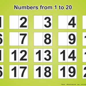 Free Printable Numbers 1-20