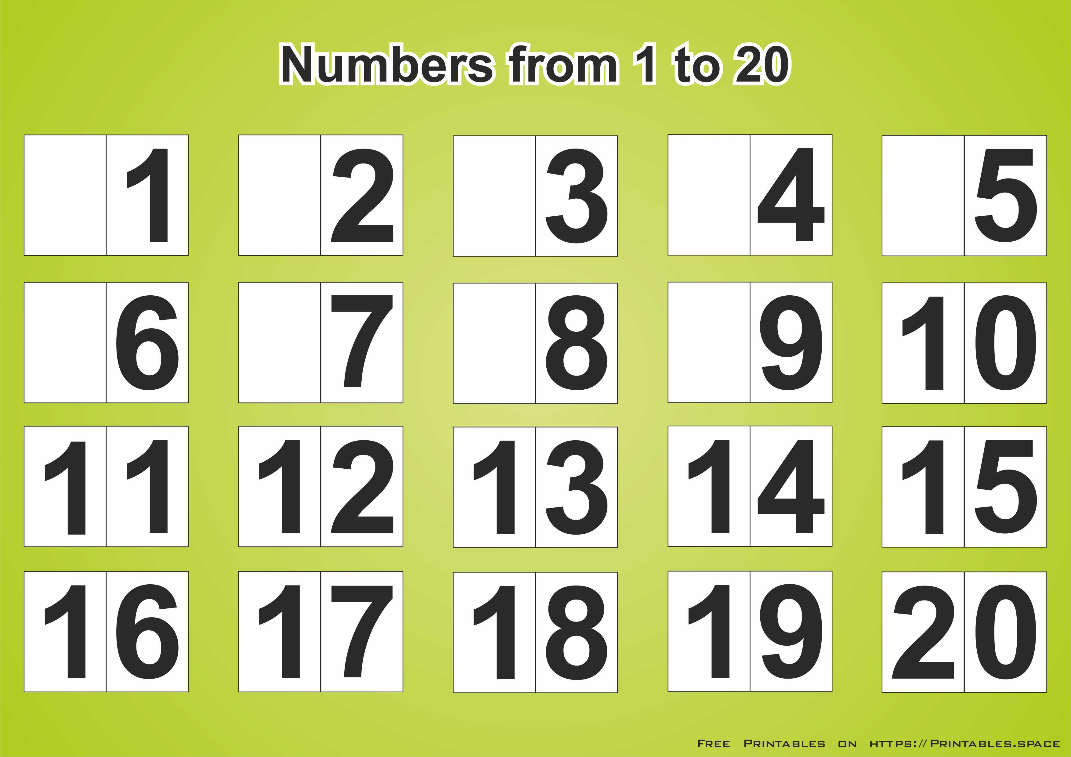 It is a graphic of Terrible Printable Numbers 1 20
