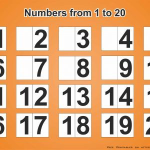 Printable Poster With Numbers From 1 to 20