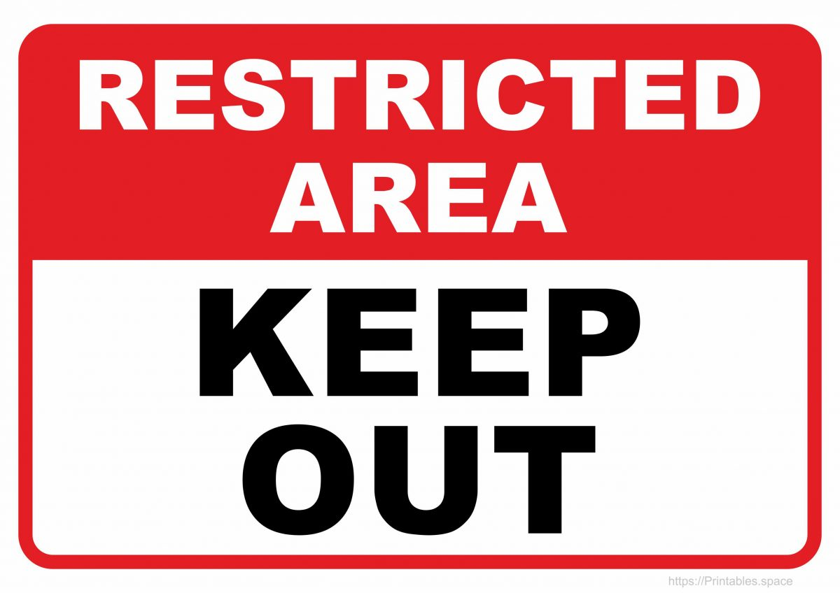 Restricted Area - Keep Out - Printable Sign