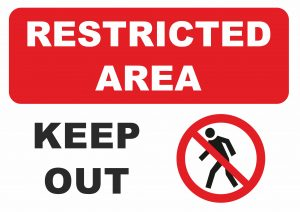 Printable Sign Restricted Area Keep Out