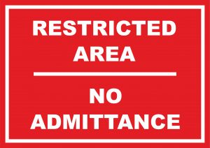 Restricted Area No Admittance