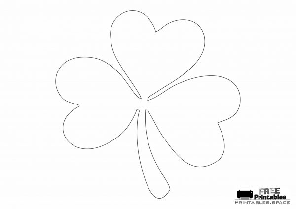 Large Shamrock Template