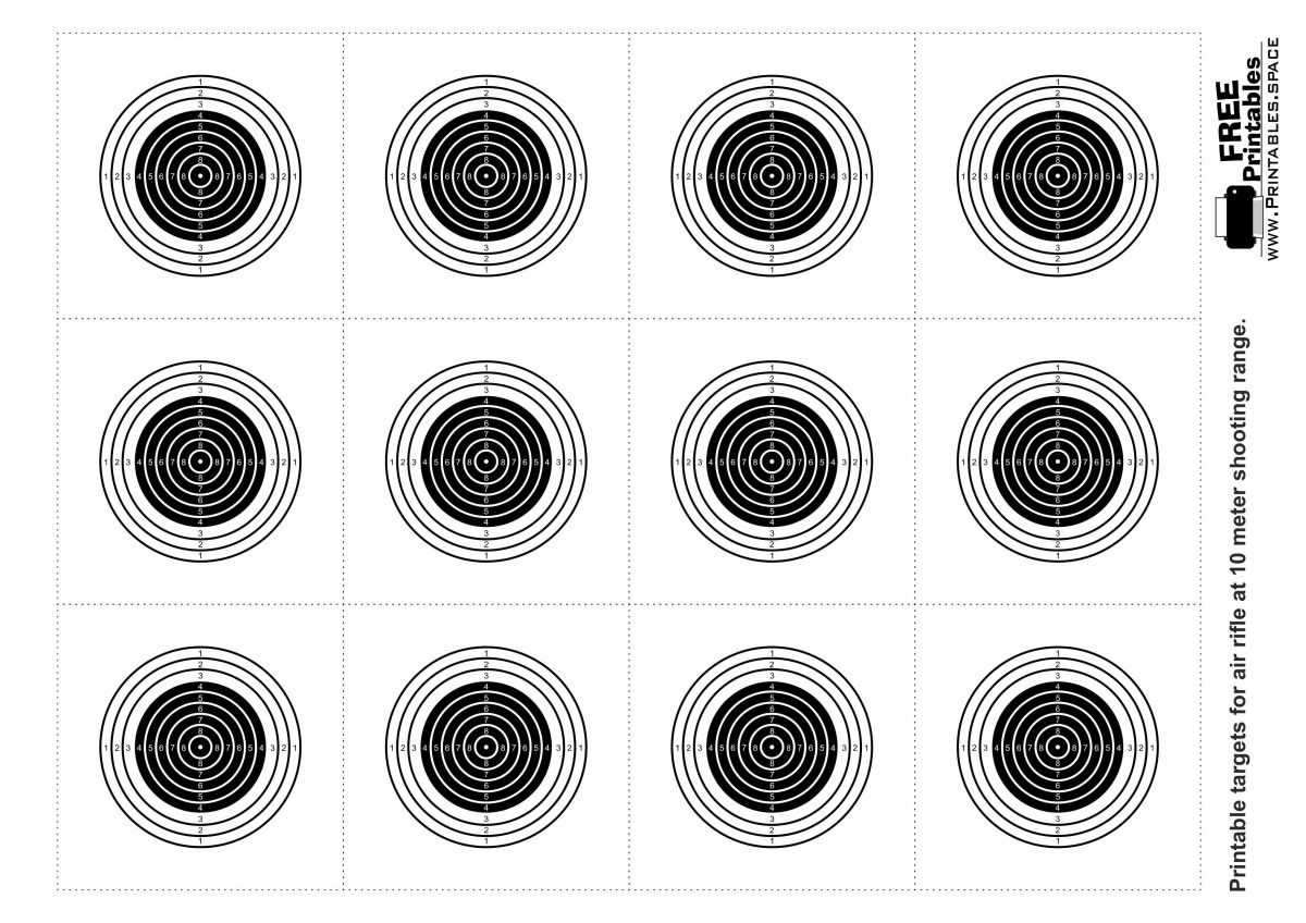 Printable Targets - 10 m Air Rifle