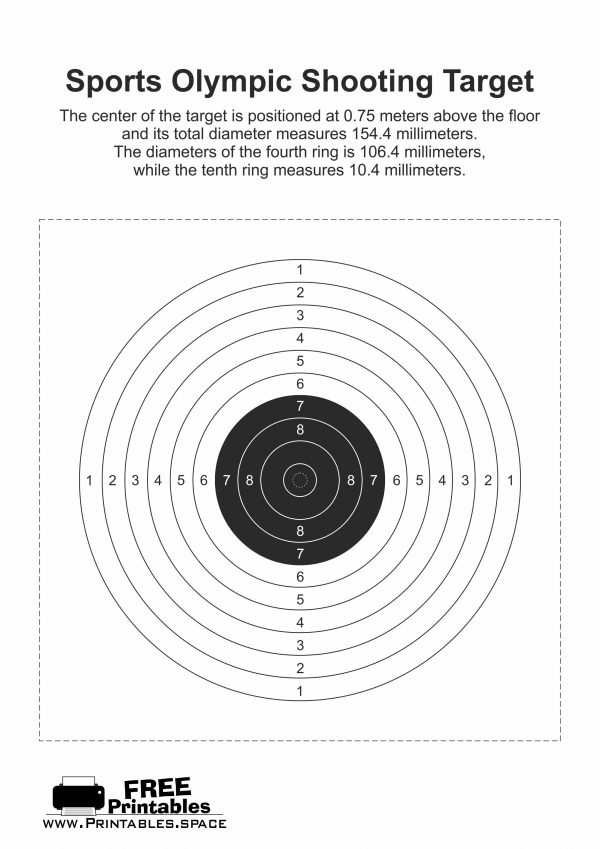 Sports Olympic Shooting Target