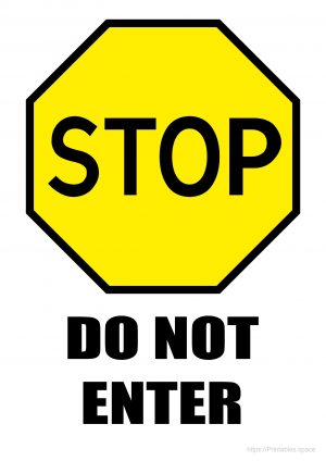 Stop Sign With Yellow Background