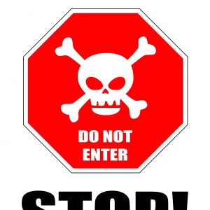 Warning! Stop - Free Printable Sign