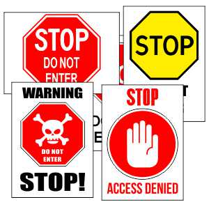 Printable Stop Signs