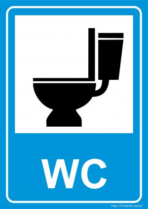 WC Sign Printable (A4)