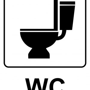 WC - Free Restroom Sign Printable