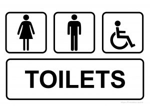 Man, Woman And Invalid One Toilet Sign Printable