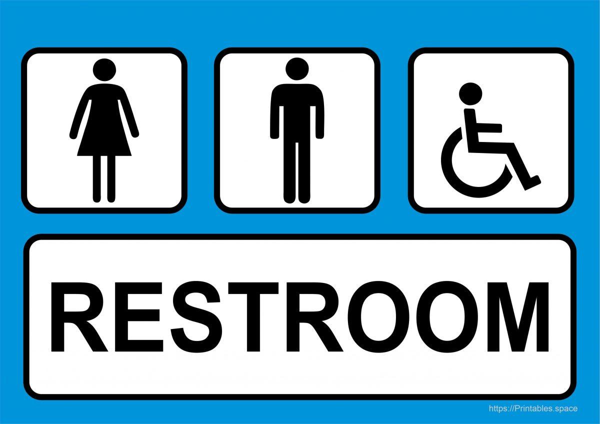 Free Restroom Sign Printable