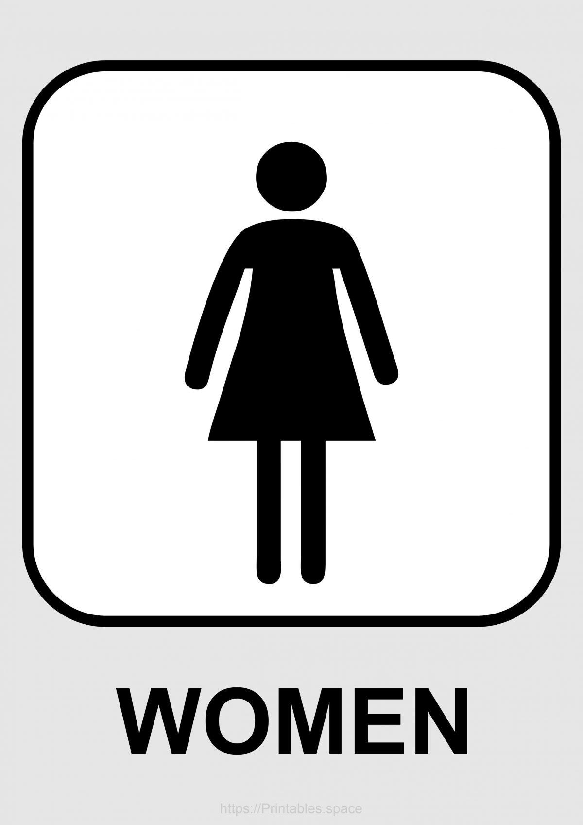 Women's Toilet Sign Printable
