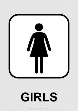 Girls Toilet Sign