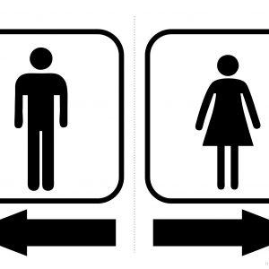 Toilets Arrows Men Left / Women Right