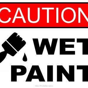 Caution Wet Paint