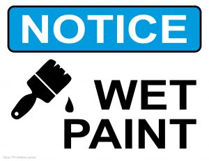 Printable Sign: Notice Wet Paint