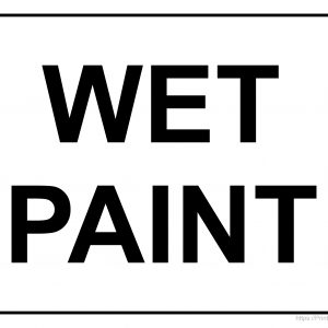 Simple Wet Paint Printable Sign