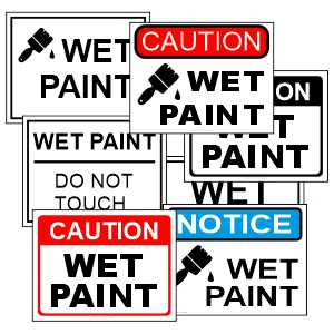 Wet Paint Printable Signs